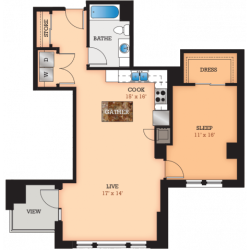 Floor Plan S | Domain | Apartments in Madison, WI