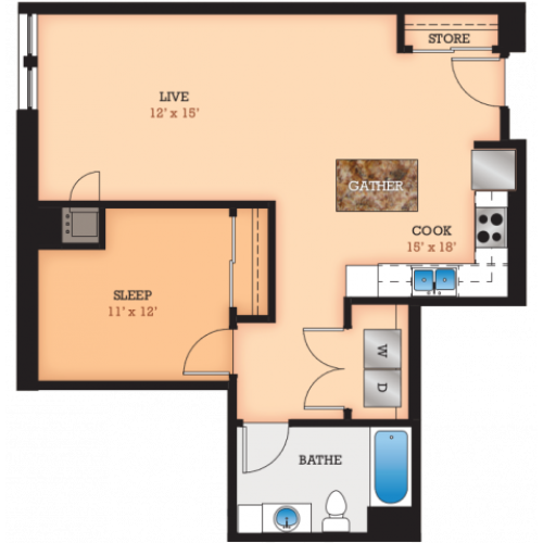 Floor Plan N | Domain | Apartments in Madison, WI