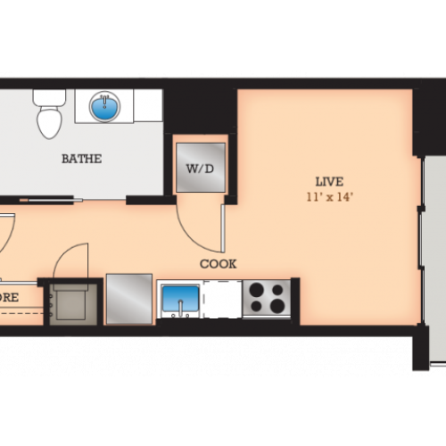 Floor Plan E3 | Domain | Apartments in Madison, WI