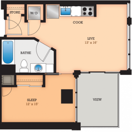 Floor Plan HH | Domain | Apartments in Madison, WI