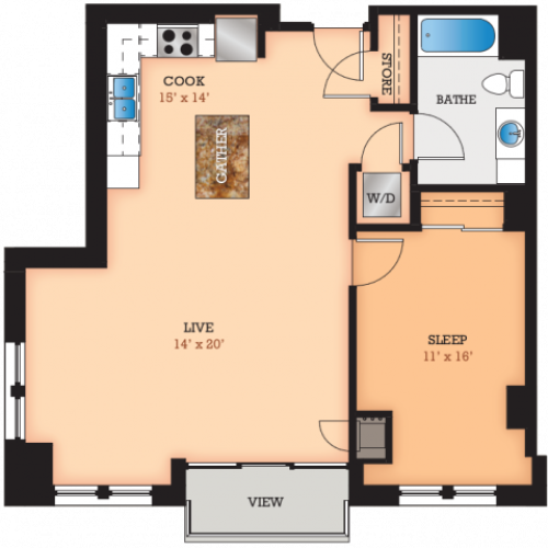 Floor Plan U | Domain | Apartments in Madison, WI