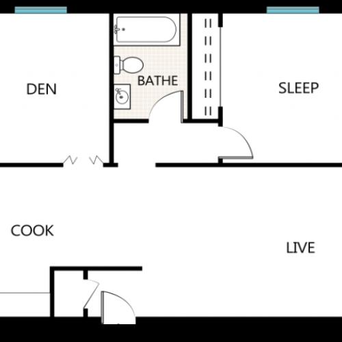 One Bedroom, One Bathroom plus Den | Stone Point Apartments | Apartments in Menomonee Falls, WI
