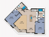 2 Bedroom Floor Plan | The Woodlands Apartments 4