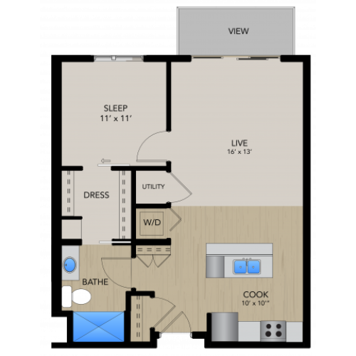 Floor Plan 1A | 1505 Apartments | Apartments in Grafton, WI