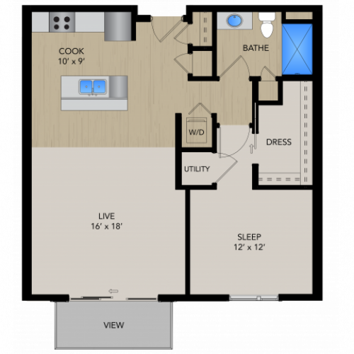 Floor Plan 1C | 1505 Apartments | Apartments in Grafton, WI
