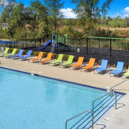 Swimming Pool | 2 Bedroom Apartments in Pewaukee WI | Saddle Brook Apartments