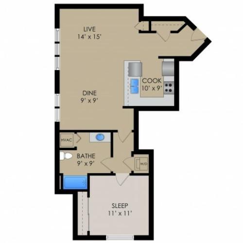 Floor Plan | Barrington Place Apartments