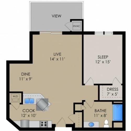Floor Plan 3 | Barrington Place Apartments