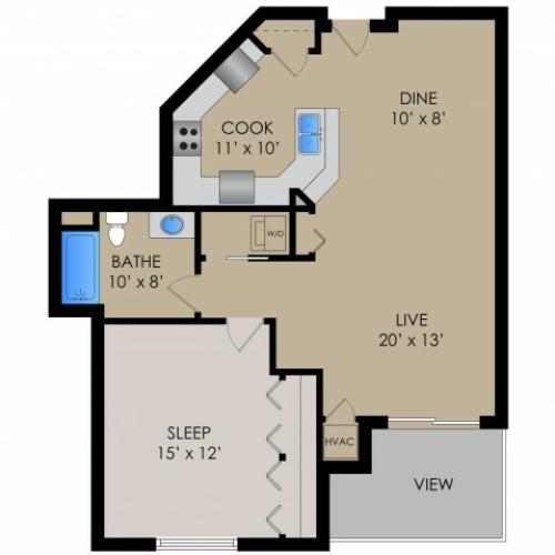 Floor Plan 4 | Barrington Place Apartments