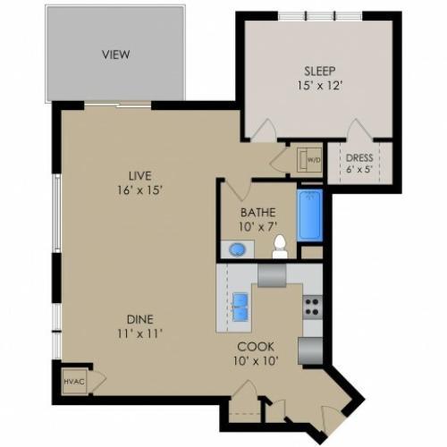 Floor Plan 6 | Barrington Place Apartments