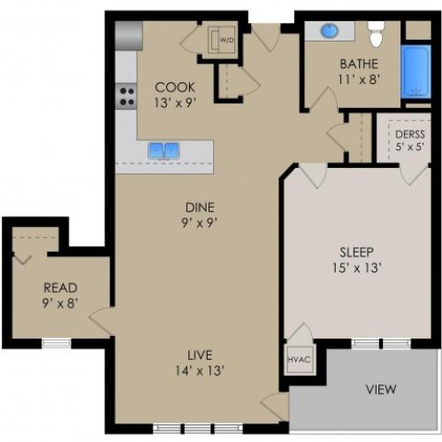 Floor Plan 2 | Barrington Place Apartments2