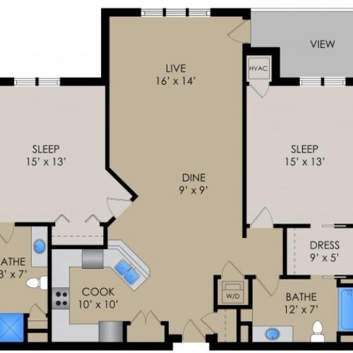 Floor Plan 3 | Barrington Place Apartments2