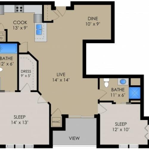 Floor Plan 4 | Barrington Place Apartments2