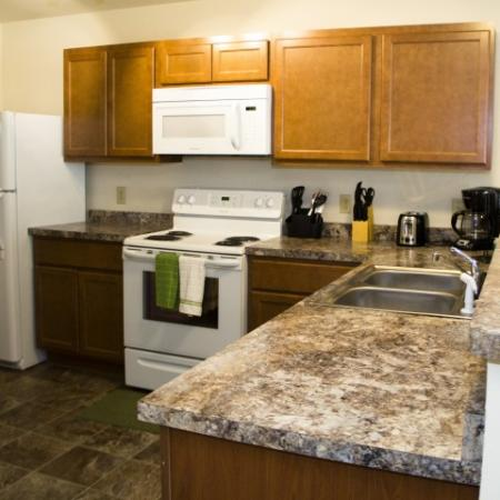 Granite Counters in Kitchen | 2 bedroom apartments in Louisville | Barrington Place