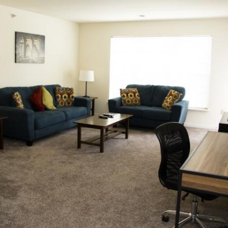 Luxury Living Room | 1 bedroom apartments in Louisville KY | Barrington Place