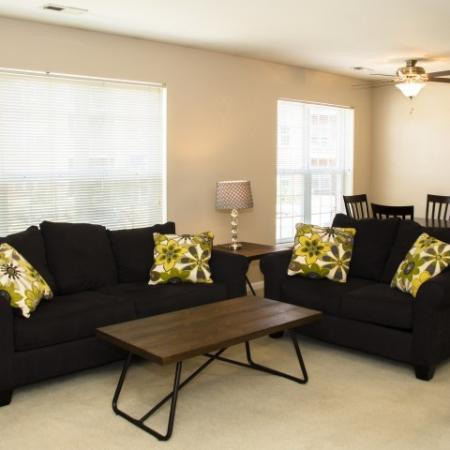 Large Living Area | 1 bedroom apartments in Louisville | Barrington Place