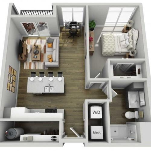 Floor Plan 1E | State Street Station | Apartments in Wauwatosa, WI