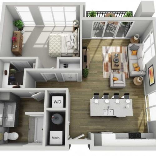 Floor Plan 1G | State Street Station | Apartments in Wauwatosa, WI