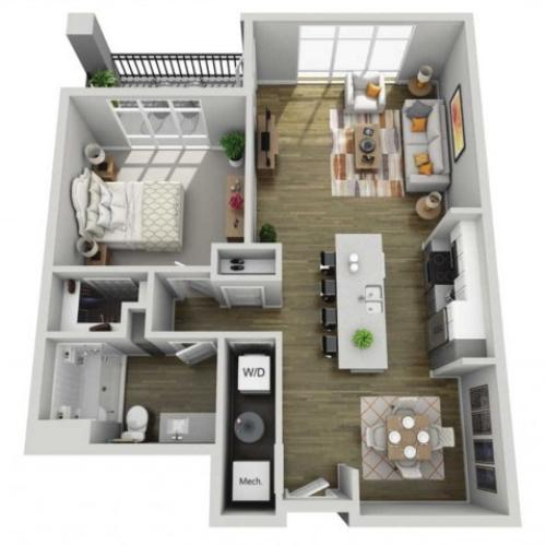 Floor Plan 1I | State Street Station | Apartments in Wauwatosa, WI