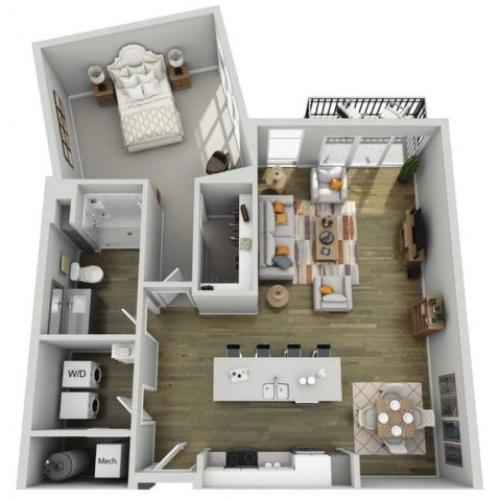 Floor Plan 1J | State Street Station | Apartments in Wauwatosa, WI
