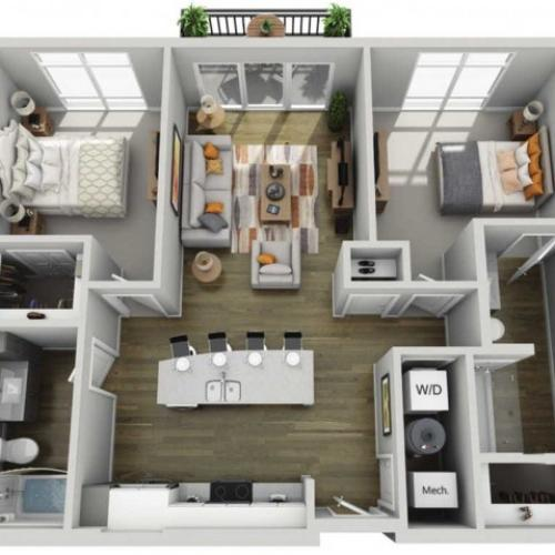 Floor Plan 2B | State Street Station | Apartments in Wauwatosa, WI