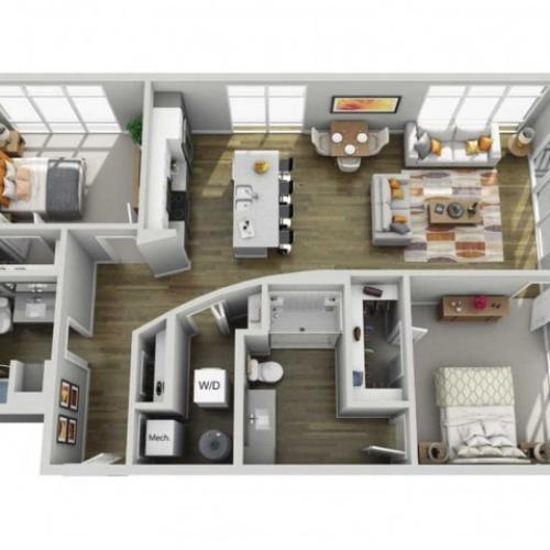 Floor Plan 2G | State Street Station | Apartments in Wauwatosa, WI