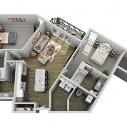 Floor Plan 2J | State Street Station | Apartments in Wauwatosa, WI