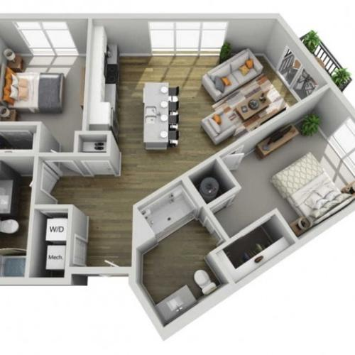 Floor Plan 2D | State Street Station | Apartments in Wauwatosa, WI