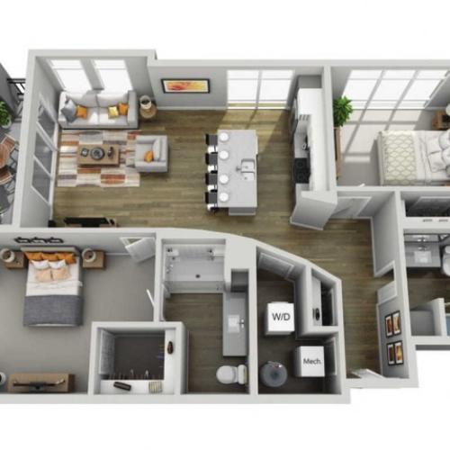 Floor Plan 2E | State Street Station | Apartments in Wauwatosa, WI
