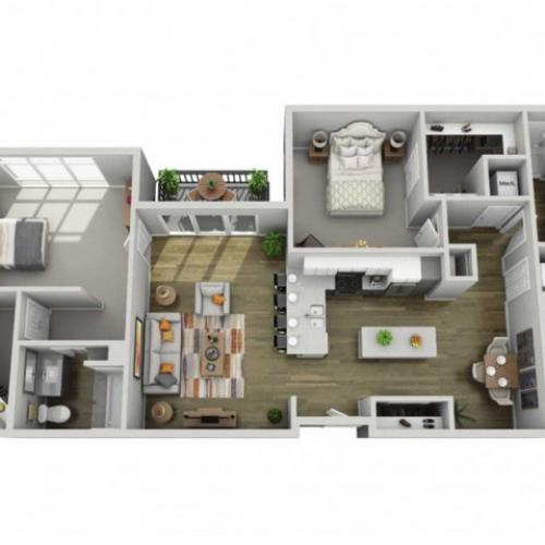 Floor Plan 2H | State Street Station | Apartments in Wauwatosa, WI