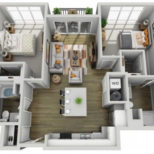 Floor Plan 2C | State Street Station | Apartments in Wauwatosa, WI