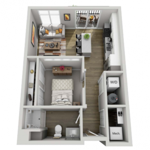 Floor Plan 1A | State Street Station | Apartments in Wauwatosa, WI