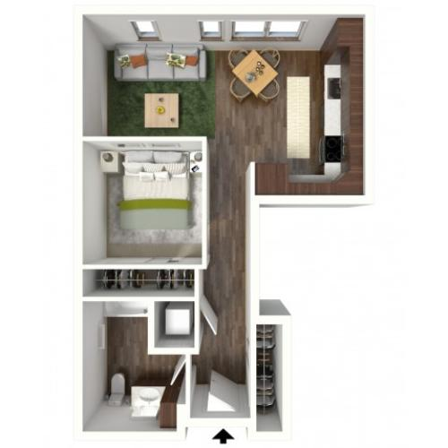Floor Plan A2 | Jade at North Hills | Apartments in Menomonee Falls, WI