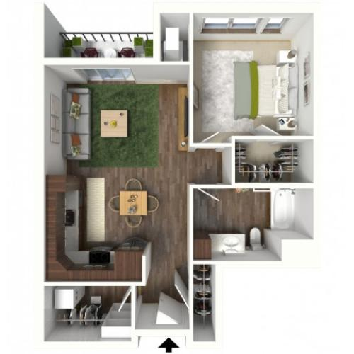Floor Plan B1.1 | Jade at North Hills | Apartments in Menomonee Falls, WI
