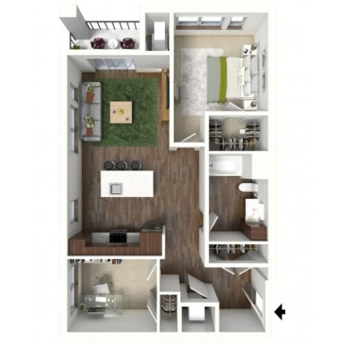 Floor Plan C1 | Jade at North Hills | Apartments in Menomonee Falls, WI