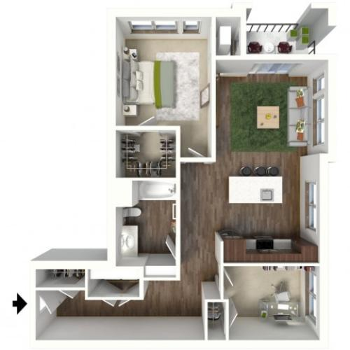 Floor Plan C1.1 | Jade at North Hills | Apartments in Menomonee Falls, WI
