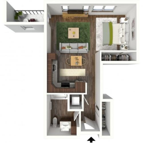 Floor Plan A1 | Jade at North Hills | Apartments in Menomonee Falls, WI