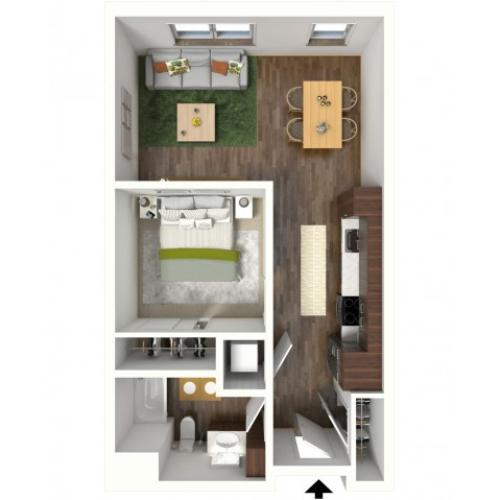 Floor Plan A3 | Jade at North Hills | Apartments in Menomonee Falls, WI