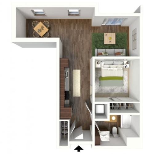 Floor Plan A3.2 | Jade at North Hills | Apartments in Menomonee Falls, WI
