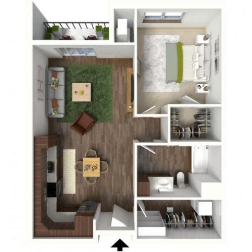 Floor Plan B1 | Jade at North Hills | Apartments in Menomonee Falls, WI