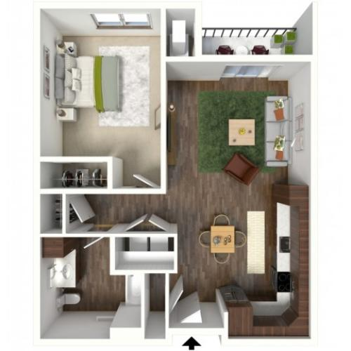 Floor Plan B1A | Jade at North Hills | Apartments in Menomonee Falls, WI