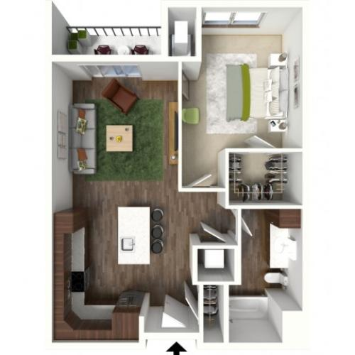 Floor Plan B2 | Jade at North Hills | Apartments in Menomonee Falls, WI