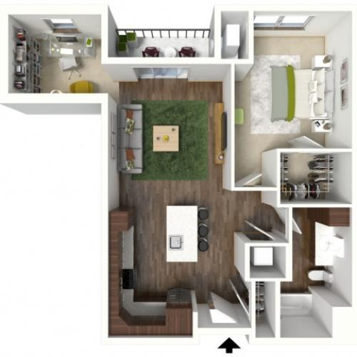 Floor Plan C3 | Jade at North Hills | Apartments in Menomonee Falls, WI