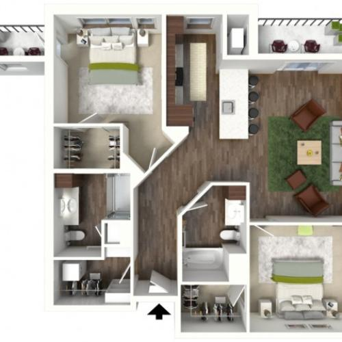Floor Plan D1.1 | Jade at North Hills | Apartments in Menomonee Falls, WI