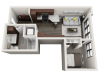Floor Plan A3 | Synergy at the Mayfair Collection | Apartments in Wauwatosa, WI