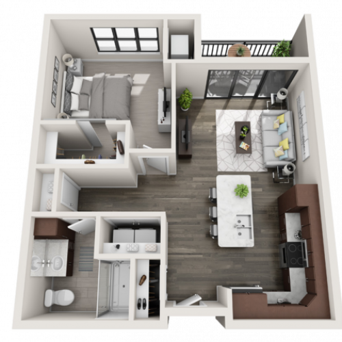 Floor Plan B3.2 | Synergy at the Mayfair Collection | Apartments in Wauwatosa, WI