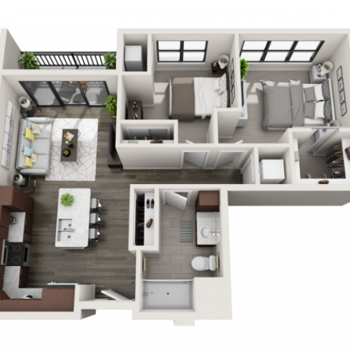 Floor Plan C1 | Synergy at the Mayfair Collection | Apartments in Wauwatosa, WI