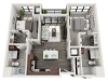 Floor Plan D2 | Synergy at the Mayfair Collection | Apartments in Wauwatosa, WI