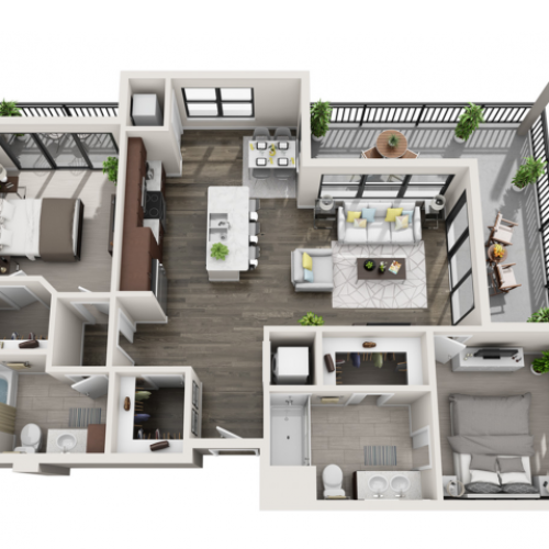 Floor Plan D5 | Synergy at the Mayfair Collection | Apartments in Wauwatosa, WI