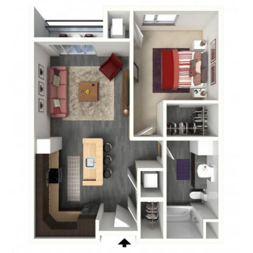 Floor Plan B1 | 1505 Apartments | Apartments in Grafton, WI